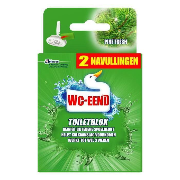 Toiletblok navul duo pine fresh (2 × 80g)