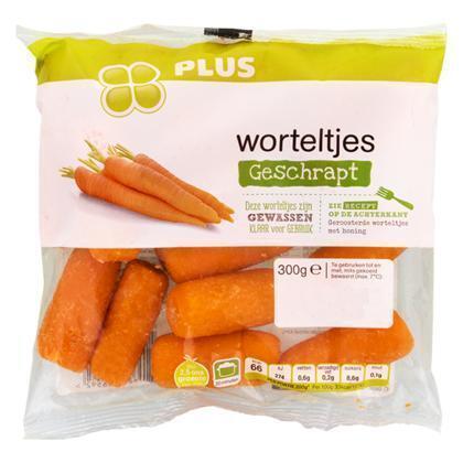 Geschrapte worteltjes (300g)