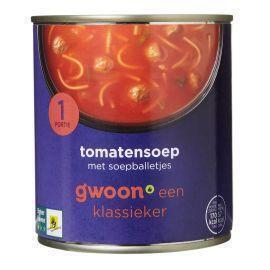 Tomatensoep met soepballetjes (blik, 30cl)