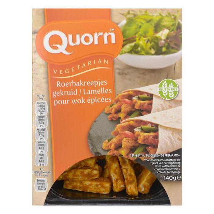 Quorn Vegetarische roerbakreepjes gekruid (140g)