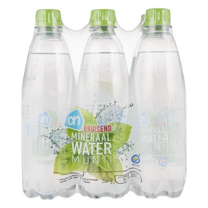 AH Bruisend mineraalwater munt (pet fles, 6 × 0.5L)