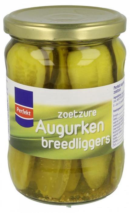 Augurken breedliggers (pot, 530g)