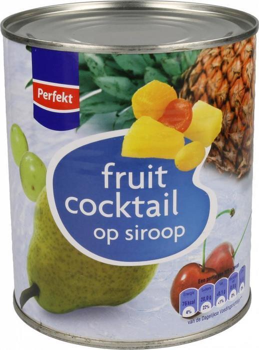 Fruitcocktail op Siroop (blik, 815g)