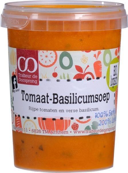 Tomaat-basilicumsoep (bak, 0.5L)