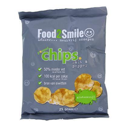 Food2Smile Chips Salt & Pepper minder vet (25g)