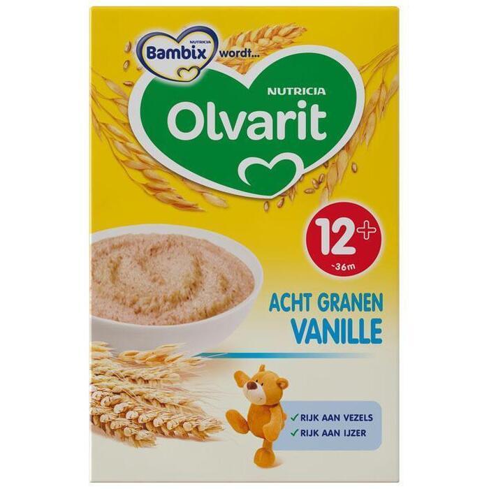 Zonnige Ontbijtpap Acht Granen Vanille 12 - 36 Maanden (Stuk, 250g)