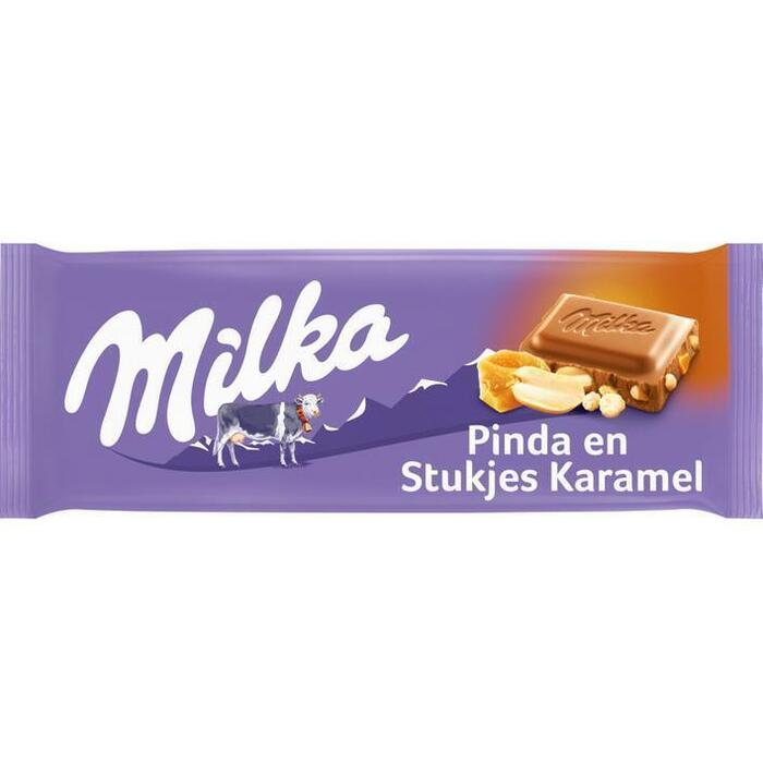 Milka Pinda & krokante stukjes (tablt, 90g)