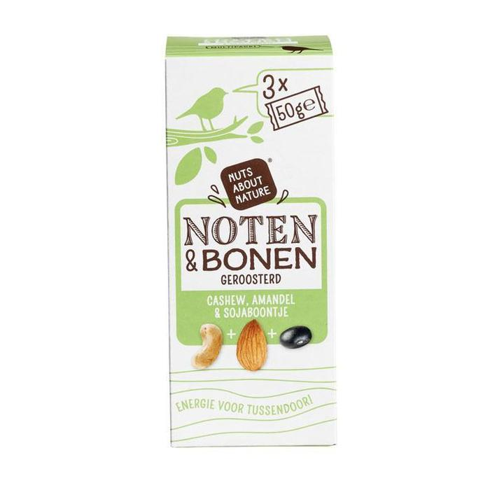 Nuts about nature Noten & bonen geroosterd (3 × 150g)