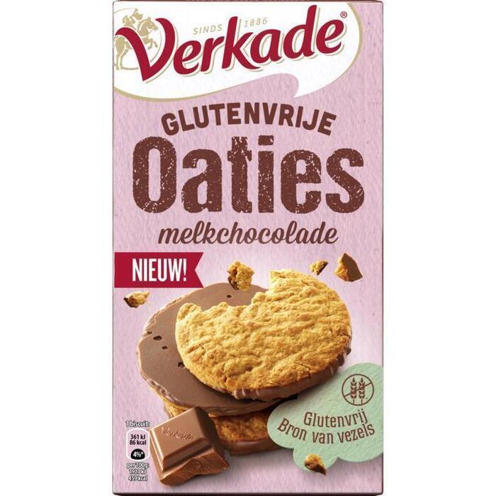 Verkade Glutenvrije oaties melkchocolade (150g)