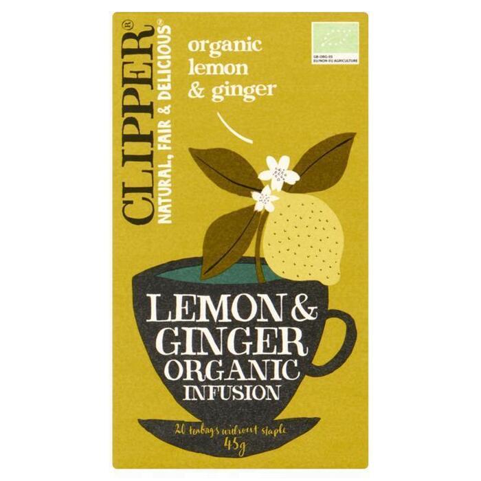 Organic Lemon & Ginger (zakjes, 20 × 45g)