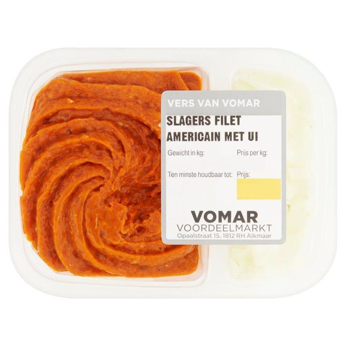 Vomar Slagers Filet Americain Ui 150 g (Stuk, 150g)