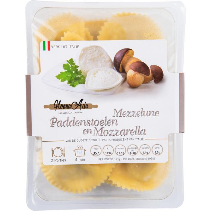 Mezzelunne Bospaddenstoelen en Mozzarella (250g)