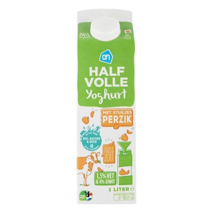 AH Halfvolle yoghurt perzik (1L)