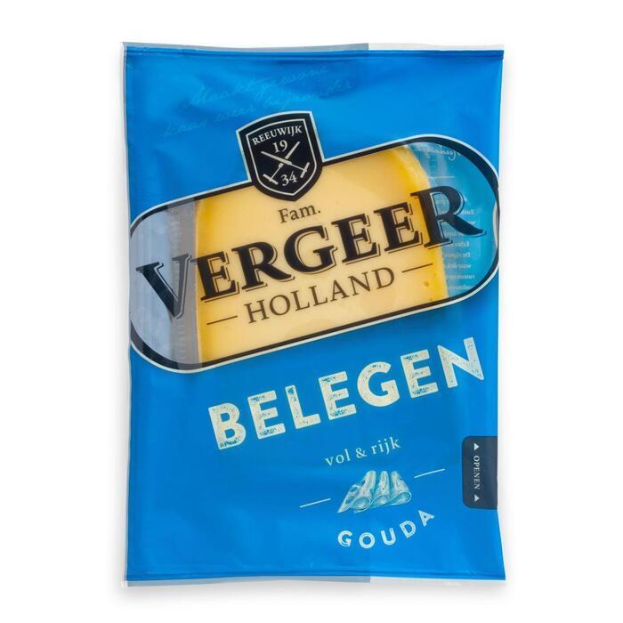 Vergeer Holland Kaas 48+ Plakken Gouda Belegen 200g (200g)