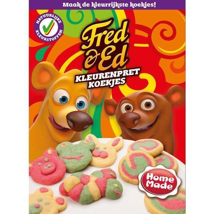 HomeMade Fred & Ed Mix voor Kleurenpret Koekjes (360g)