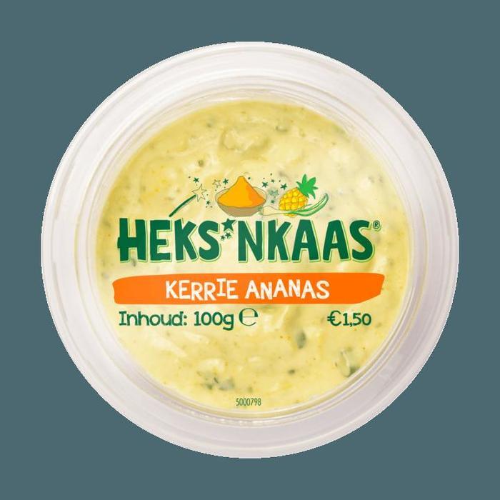 HEKS'NKAAS smeerdip Kerrie Ananas 100 g bakje (100g)