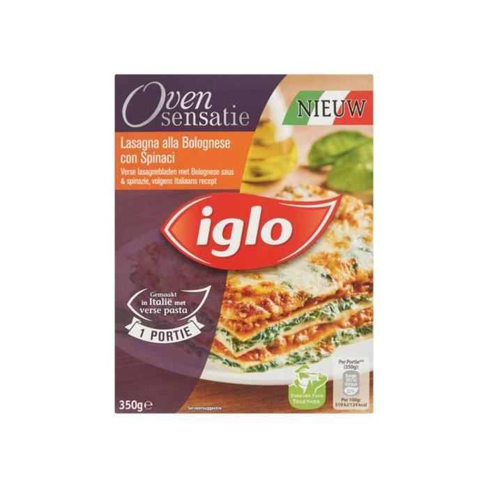 Oven Sensatie Lasagna alla Bolognese con Spinaci (doos, 350g)