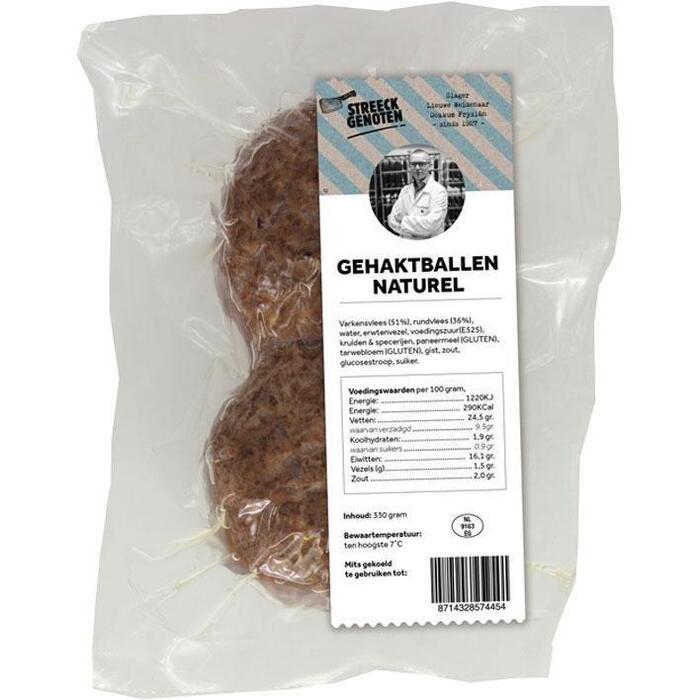 Streeckgenoten Gehaktballen naturel (330g)