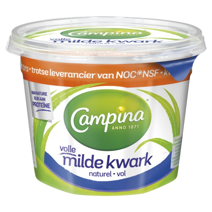 Volle milde kwark naturel (500g)