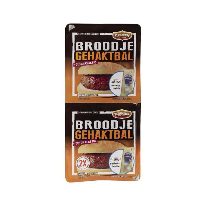 Flemming's 2 Broodjes gehaktbal voordeelverpakking (249g)