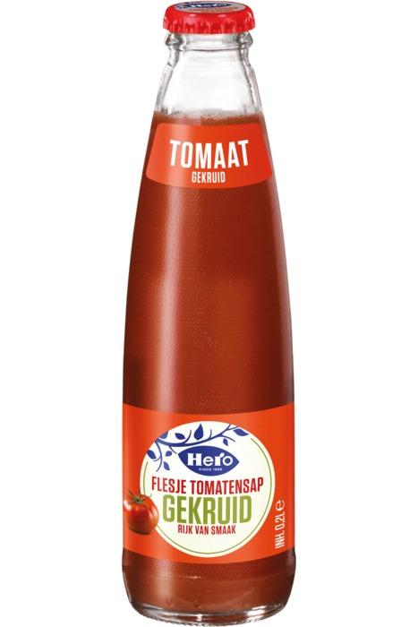 HERO Flesje Vruchtensap Tomaten gekruid 0,2l Fles (200ml)