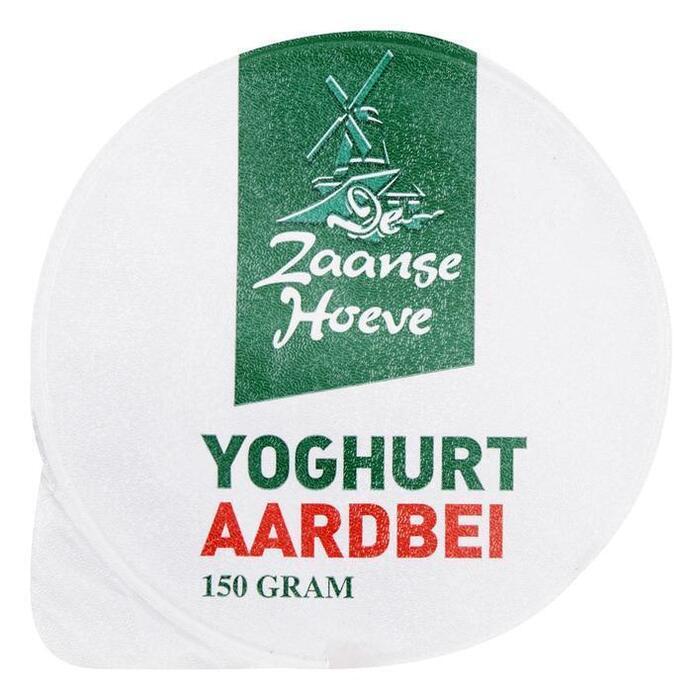 De Zaanse Hoeve Aardbeienyoghurt (mager) (150g)