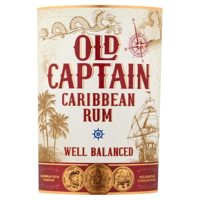 Old Captain Caribbean rum wit (rol, 70 × 0.7L)