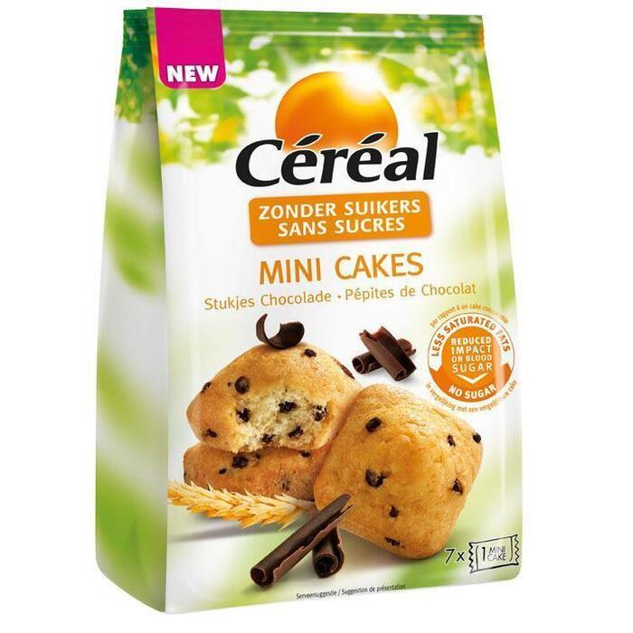 Cereal Mini cake stukjes chocolade (doos, 196g)