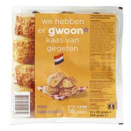 g'woon Kaassnacks mini (12 × 240g)