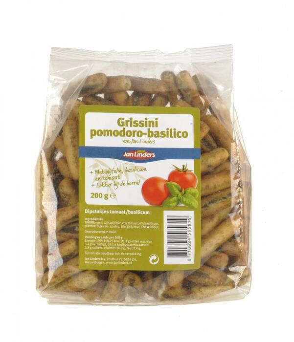 Grissini tomaat-basilicum (200g)