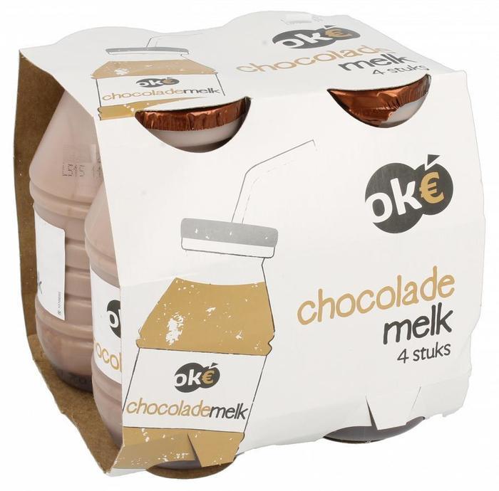 Ok€ Chocolademelk halfvol 4-pack (0.8L)