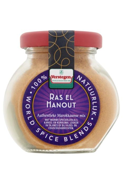 Verstegen specerijenmengeling Ras El Hanout 60 g fles (60g)