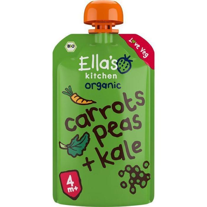 Ella's Kitchen Carrot - peas - 4 mnd+ bio (120g)