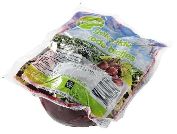 Gekookte rode bieten (zak, 500g)