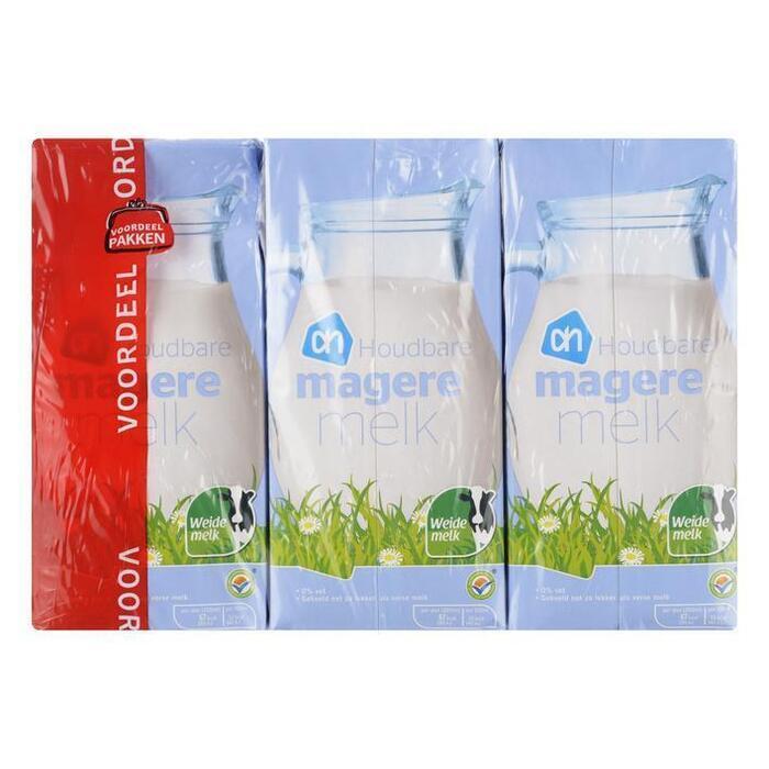 Magere melk houdbaar voordeel (pak, 6 × 1L)