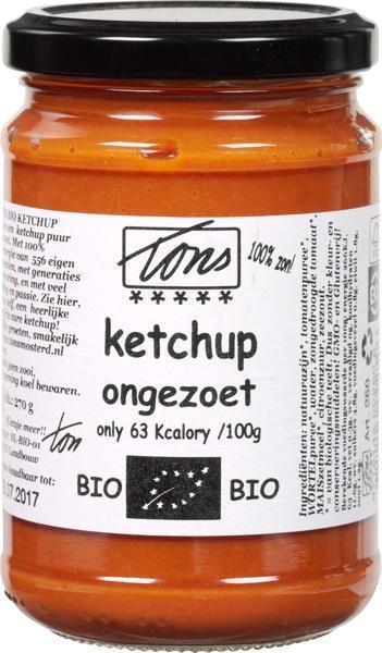 Ketchup ongezoet (glazen pot, 270g)