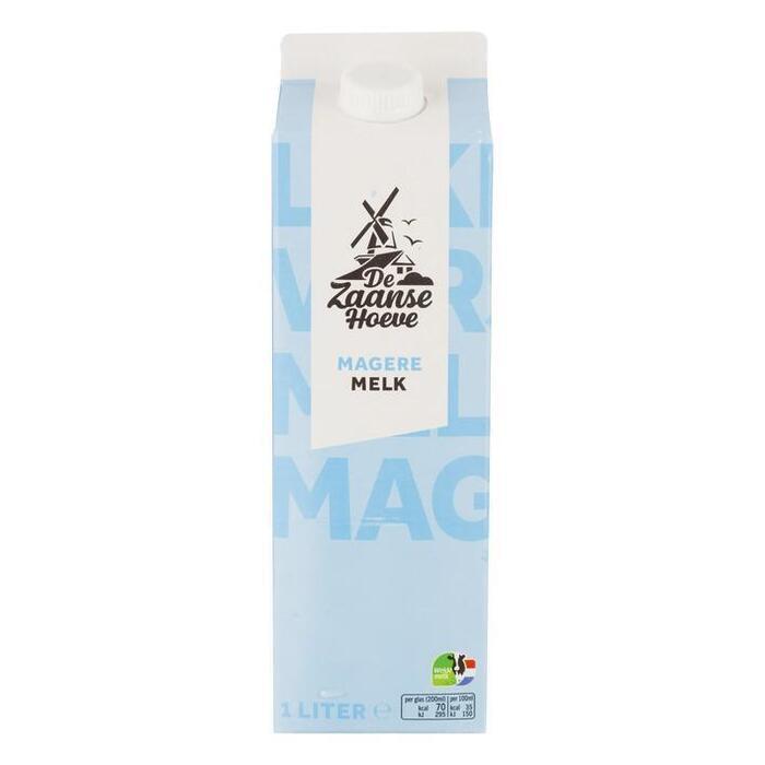 De Zaanse Hoeve Magere melk (1L)