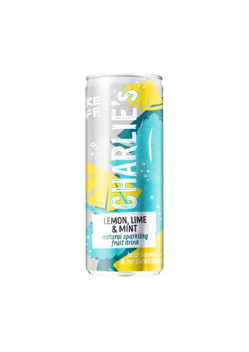 Charlie's Natural Lemon-lime & mint (250ml)