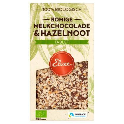 Melk hazelnoot tablet BIO/FT (Stuk, 85g)