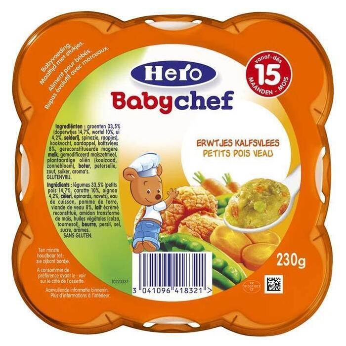 Hero Babychef erwtjes-kalf 15+ (230g)