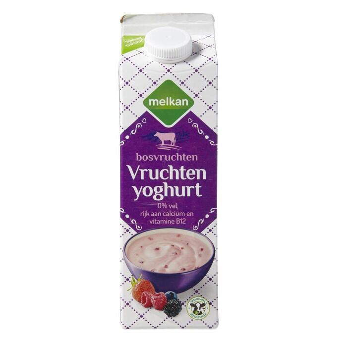 Vruchtenyoghurt mager bosvruchten (1L)