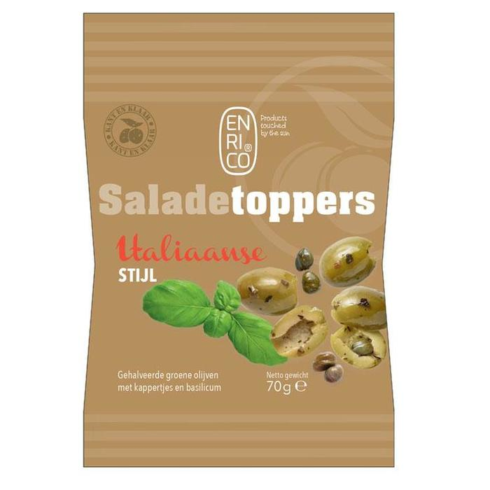 Enrico Saladetoppers Italiaanse mix (70g)