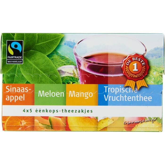 Thee oranje fruit 4 smaken 20 zakjes (40g)