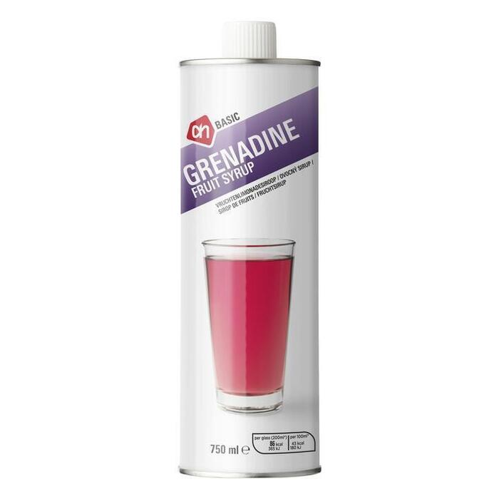 AH BASIC Limonadesiroop grenadine (0.75L)