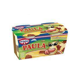 Paula  vanillevla met chocolade vlekken (4 × 500g)