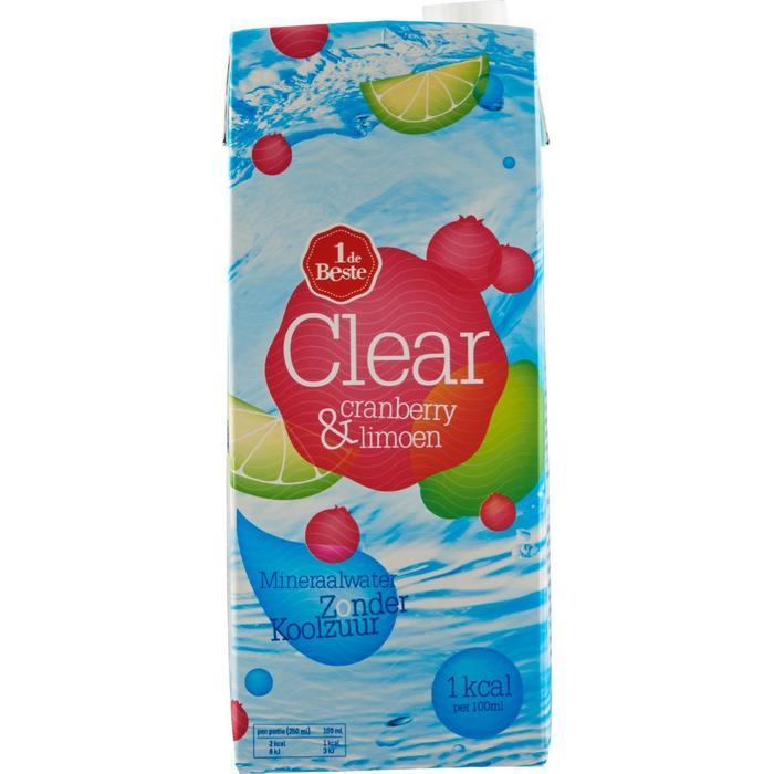Clear cranberry/limoen (1.5L)