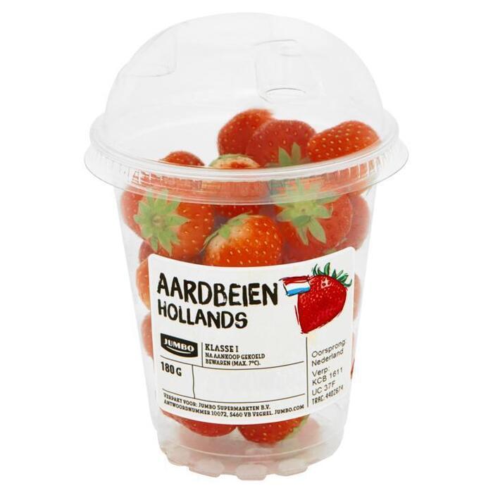 Jumbo Aardbeien Hollands 180g (180g)
