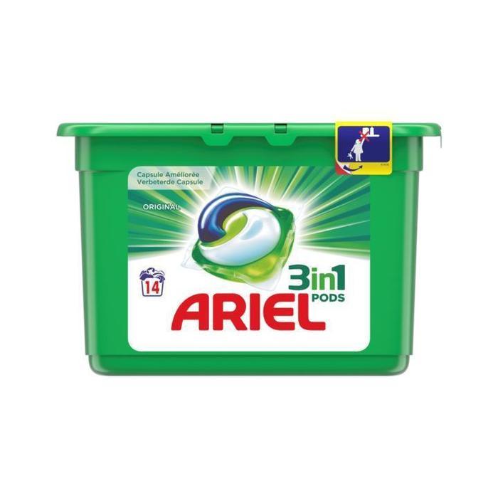 Ariel 3in1 Regular Wasmiddel Capsules 16 Wasbeurten (Stuk, 16 × 460g)