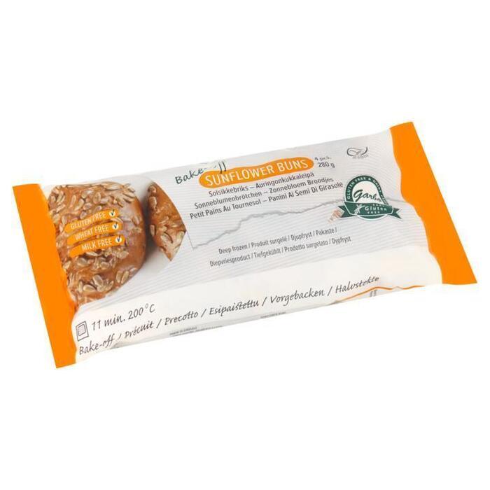 Garbo Glutenvrije Zonnebloem Afbakbroodjes 4 Stuks 280g (4 × 280g)