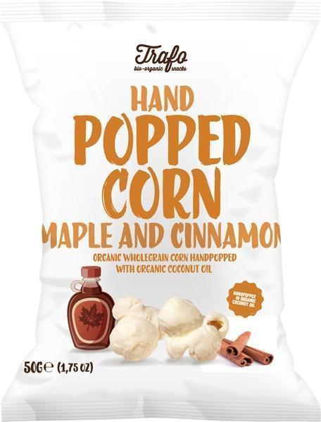 Handpopped corn maple and cinnamon (50g)